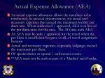 actual expense allowance aea