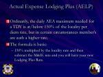 actual expense lodging plus aelp