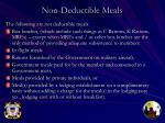 non deductible meals