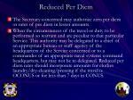 reduced per diem