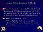 super actual expense saelp