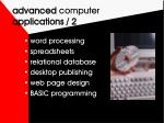 advanced computer applications 2