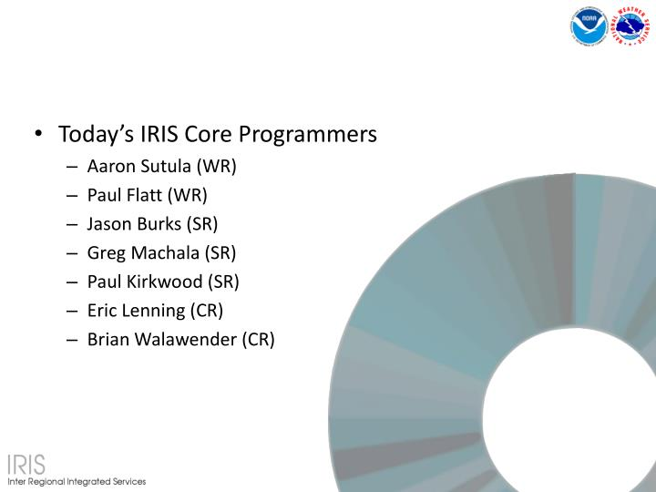 Today's IRIS Core Programmers