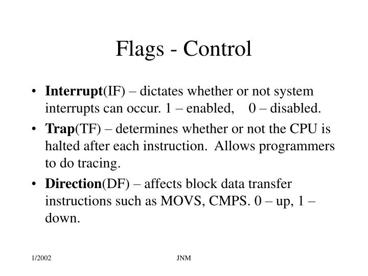 Flags - Control