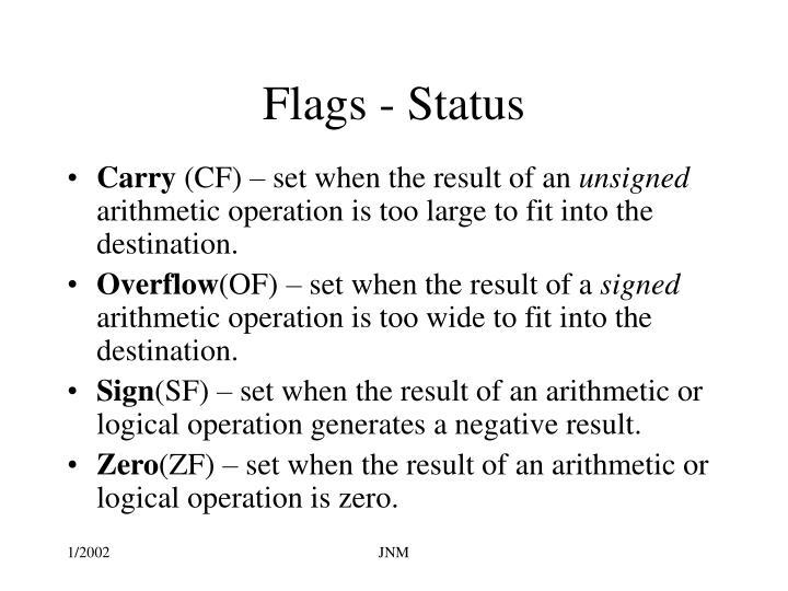 Flags - Status