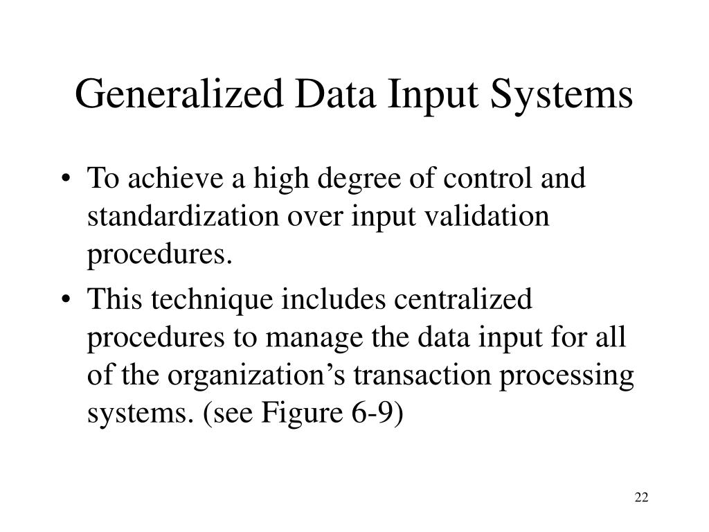 Generalized Data Input Systems