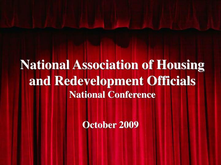 national association of housing and redevelopment officials national conference n.