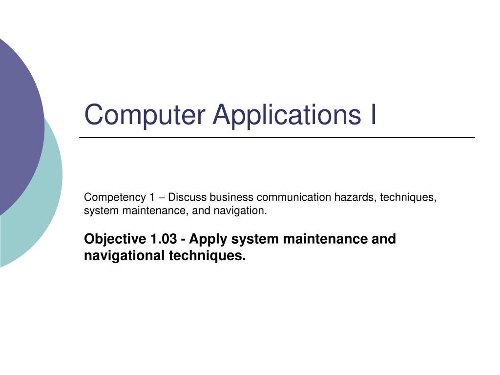 computer applications i l.