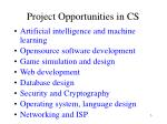 project opportunities in cs