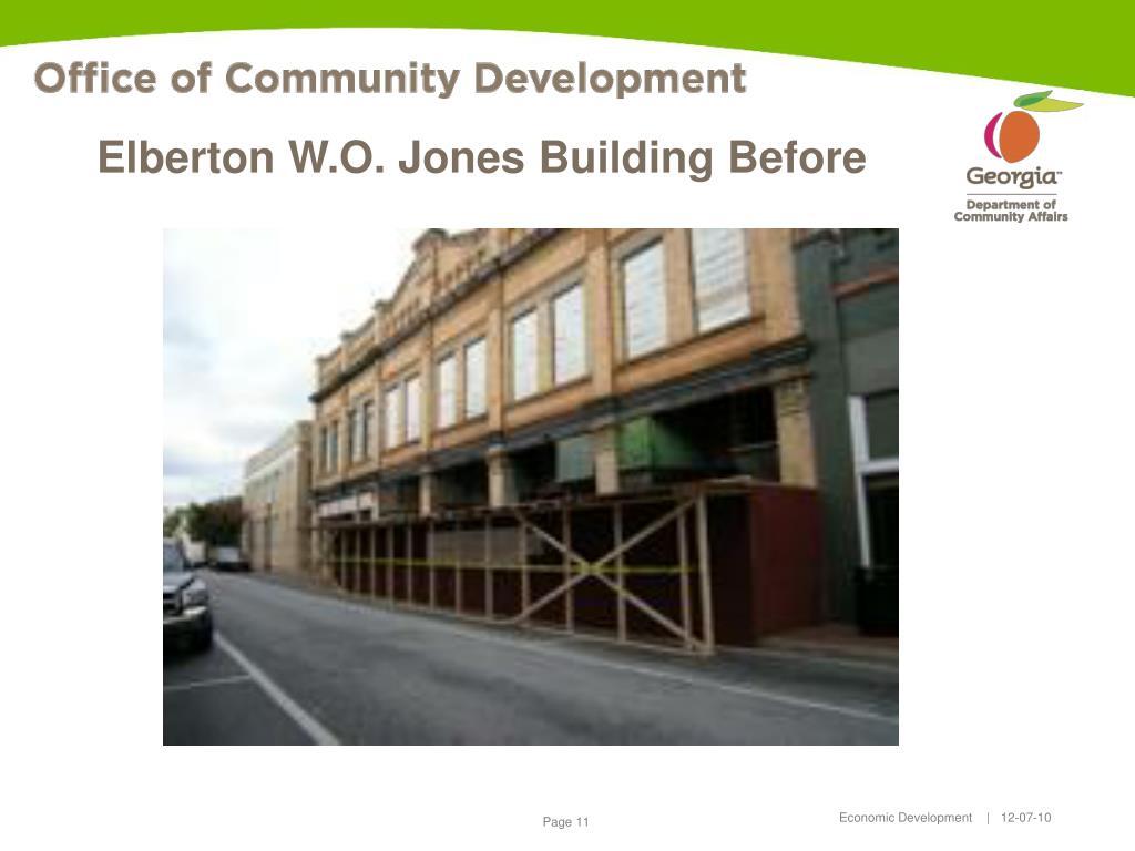 Elberton W.O. Jones Building Before