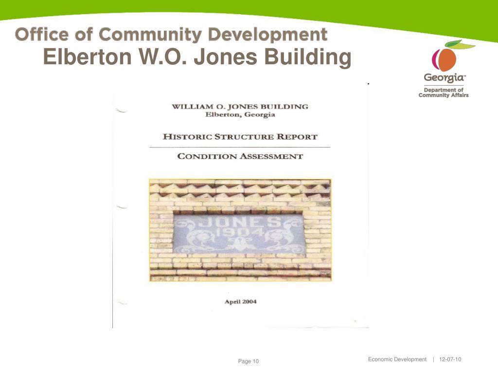Elberton W.O. Jones Building