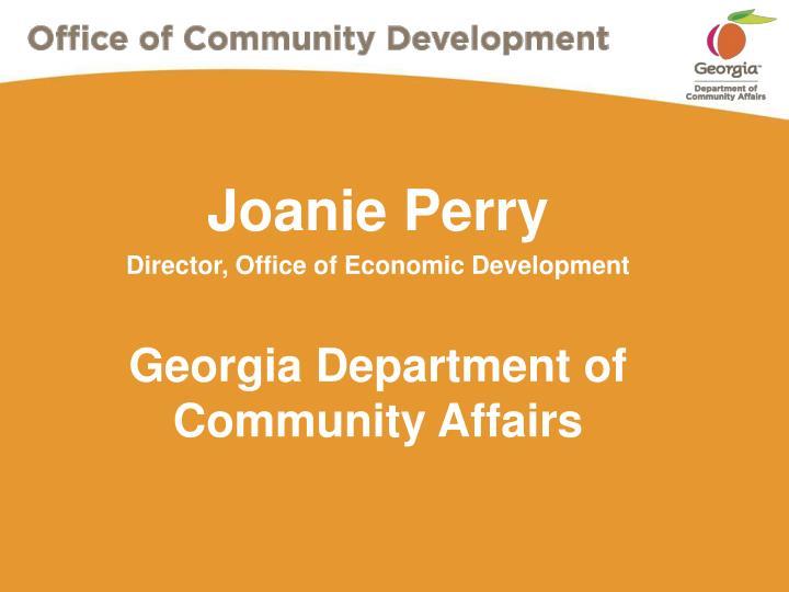 Joanie perry director office of economic development georgia department of community affairs