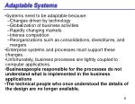 adaptable systems