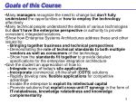 goals of this course