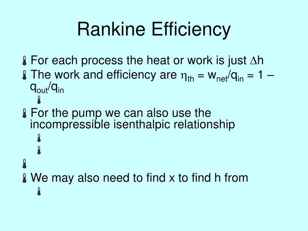 Rankine Efficiency