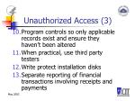unauthorized access 3