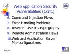 web application security vulnerabilities cont