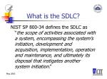 what is the sdlc