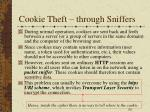 cookie theft through sniffers