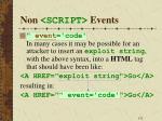 non script events