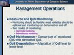management operations