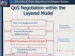qos negotiation within the layered model