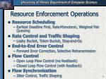 resource enforcement operations