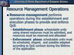resource management operations
