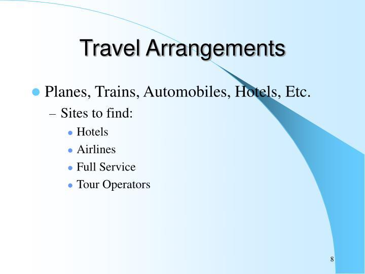 Travel Arrangements