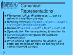canonical representations
