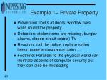 example 1 private property