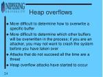 heap overflows