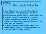 security reliability