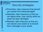 security strategies