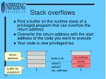 stack overflows