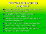 effective club or group programs