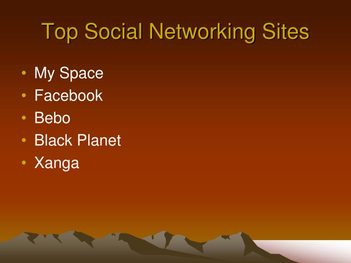Top Social Networking Sites