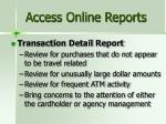 access online reports1