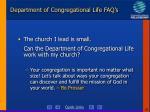 department of congregational life faq s39