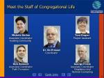 meet the staff of congregational life