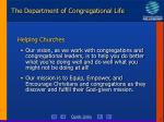 the department of congregational life7