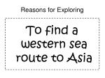 reasons for exploring