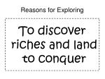 reasons for exploring6