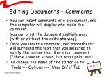 editing documents comments