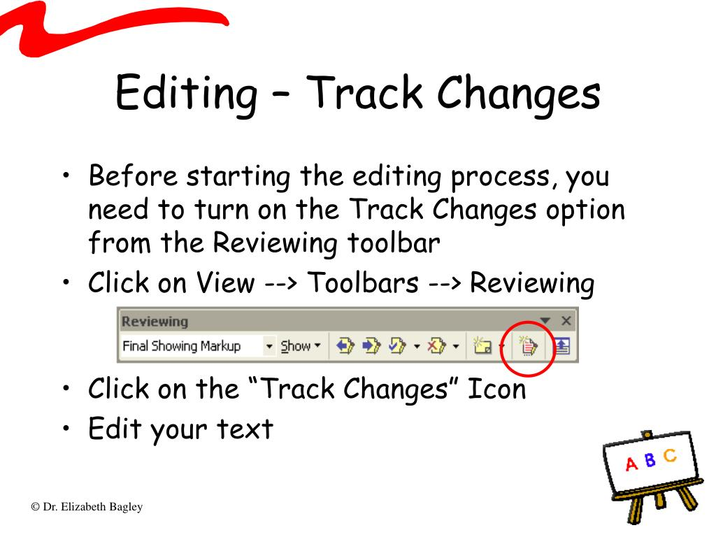 Editing – Track Changes