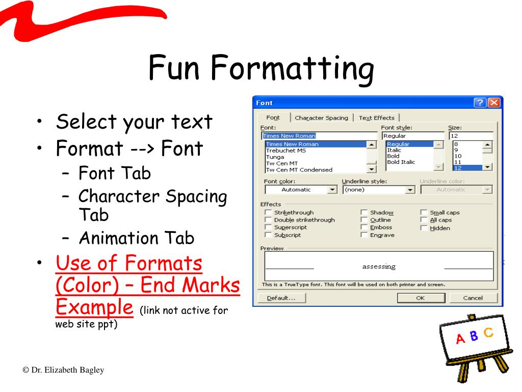 Fun Formatting