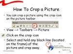 how to crop a picture