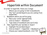 hyperlink within document