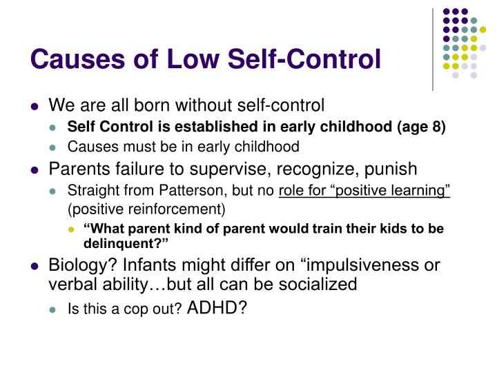 Causes of Low Self-Control