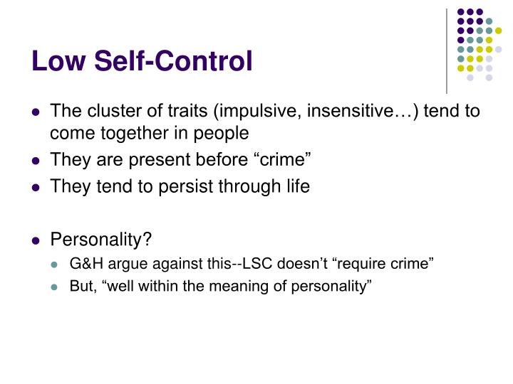 Low Self-Control